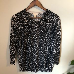 LOFT Outlet Cheetah Print Cardigan XL